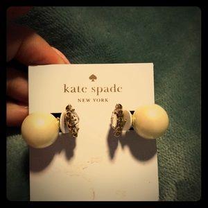 Kate Spade Pearl Back Earrings